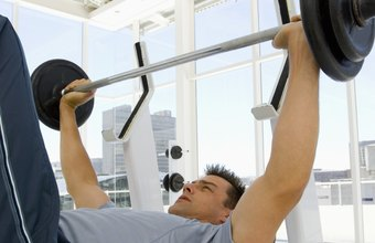 Bench presses can be part of a full-body weight-loss regimen.