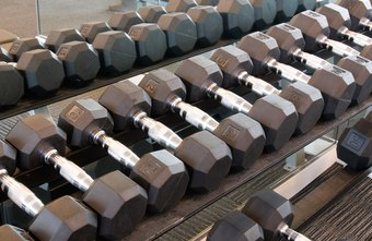 The amount of weight for your dumbbell routine varies with each exercise.