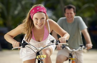Head out on your bike for a non-impact cardio session.
