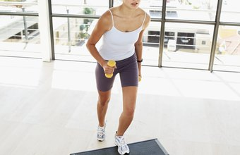 A single step aerobics workout can burn a few hundred calories.