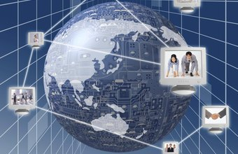 Virtual team software enables employees in different countries to interact and share files.