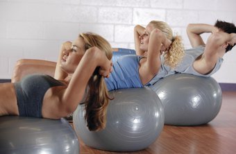 Ab exercises on a ball can help you whittle your middle.