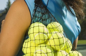 Pressureless tennis balls are sometimes sold in mesh bags.