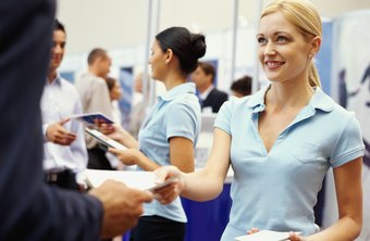 A job fair allows a company to recruit potential new hires.