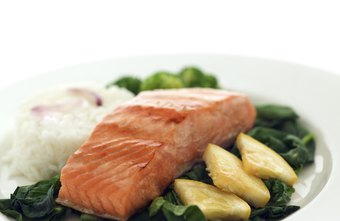 Salmon and other fish are part of the Mediterranean diet.