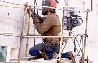 Shipyard welding jobs require both skill and training.