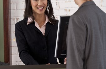 A cordial, efficient receptionist provides a favorable introduction to a business.