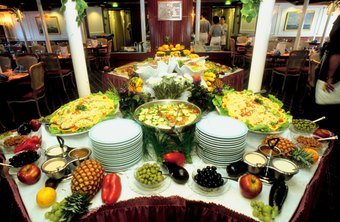 Consider the type of food setup when pricing a catering event.