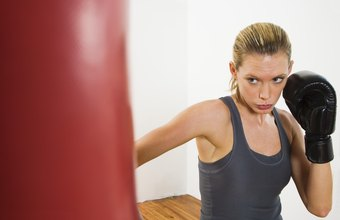 Punching bag workouts strengthen, tone and are a great cardiovascular workout.