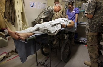 Military chaplains offer aid to soldiers in military hospitals.
