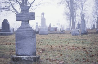 Morticians help families select gravestones for deceased relatives.