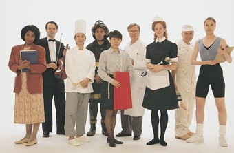 Uniforms can help to identify workers.