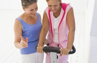 Adjust exercise bike settings before riding.