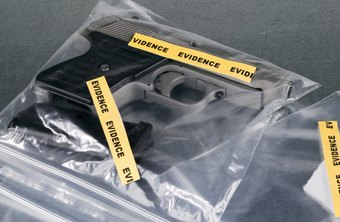 Forensic crime scene investigators seal evidence to protect it.