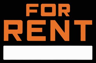 Hang a sign at the front of your building to let prospective renters know you've got an opening.