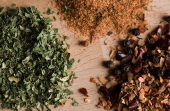 Spices can be combined into seasonings for specific dishes.