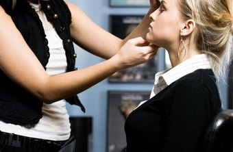 Makeup artists work in a variety of locations including salons and movie sets.
