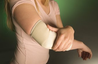 Elbow pads reduce pressure on the olecranon bursa.