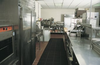 Professional food service equipment is often made from easy-to-clean stainless steel.
