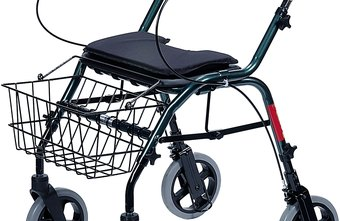 Rollators improve walking with cerebral palsy and include a seat for resting.