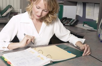 A secretary must organize her assigned tasks.