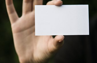 How To Make Your Business Card Sticky Chron