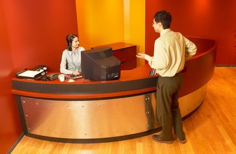 Businesses hire receptionists through employment agencies, for front-office functions.