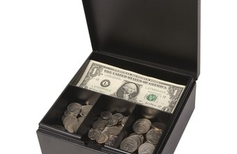 Using a locked box for petty cash can deter theft.