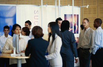 Trade shows are one venue for businesses to promote product benefits.