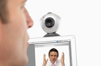 You can use VoIP applications for audio and video conferencing online.