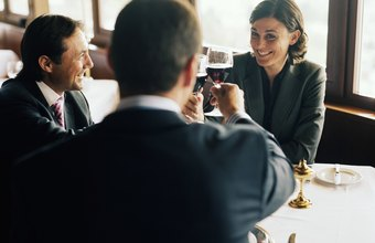 Take a client to lunch for a tax deduction.
