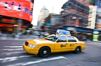 Taxi cab ads may be seen by thousands of people each day in large cities.