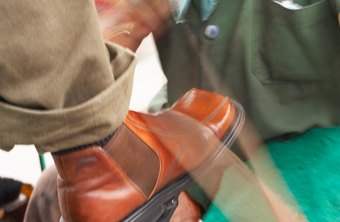Shoe shiners can earn a good living as long as foot traffic is good.