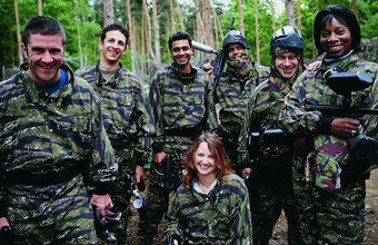 Paintball businesses provide a venue for team and corporate competitions.