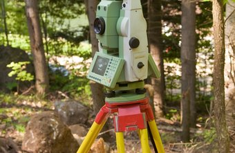 A surveyor's electronic theodolyte has replaced the traditional mechanical transit.