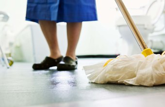 Hospital environmental techs often clean everything from bathrooms to administrative offices.