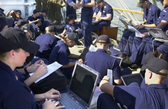 Future officer leaders at the Coast Guard Academy receive intensive training.