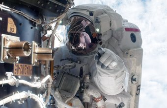 NASA astronaut Mike Fossum during a spacewalk outside the Inernational Space Station.