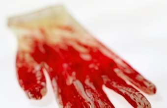 Forensic detectives can determine the facts of a crime from blood evidence.