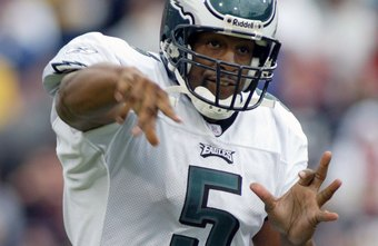 Quarterbacks, like former NFL star Donovan McNabb, require good throwing strength.