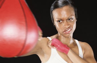 Hit the speed bag to develop your boxing skills.