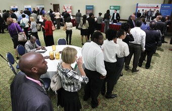 Attending crowded job fairs is a lesson in patience and perseverance.