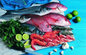 Seafood is a major component of the Mediterranean diet.