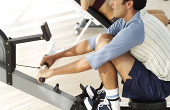 Rowing machines offer a low-impact workout.