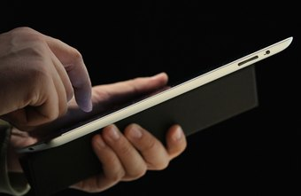 Salespeople can use the iPad to record notes and access online software.