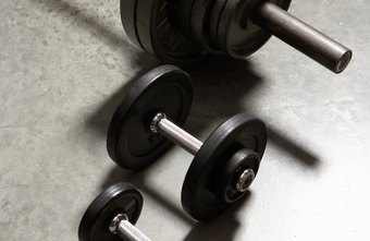 Use dumbbells, barbells or both to build strong biceps and chest.