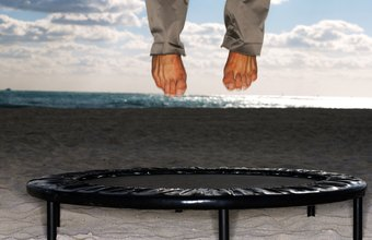 You can perform a variety of exercises on a rebounder.