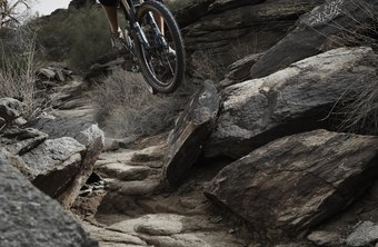 Mountain biking on rough terrain is much easier with a suspension fork.