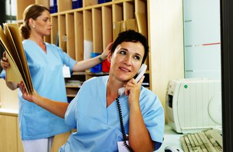 Nurse administrators supervise a staff of nurses.