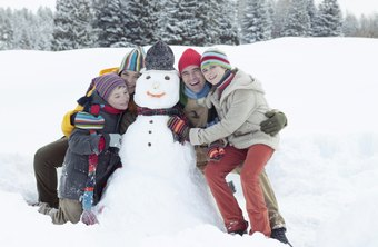 Scenes of families enjoying outdoor winter activities may work well in ads when your products appeal to the entire family.